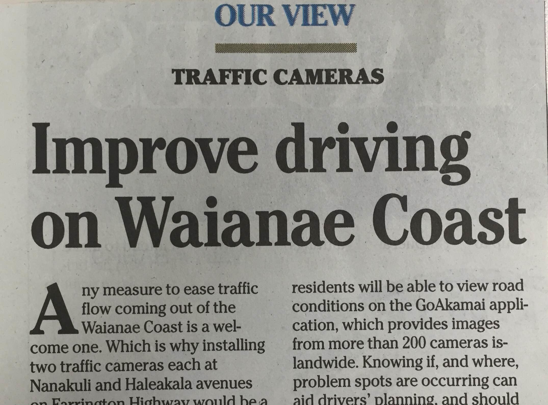 Improve Driving on Leeeward Coast