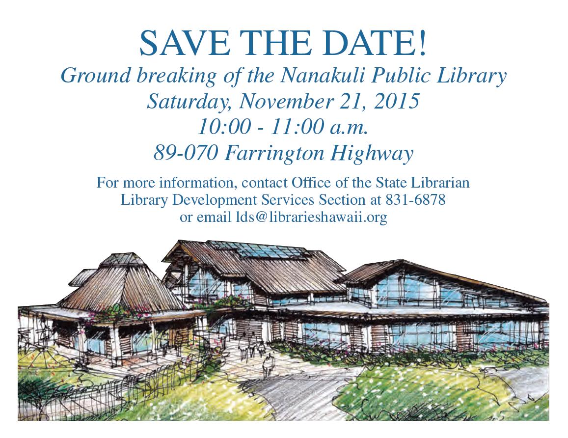 Nanakuli Library Groundbreaking