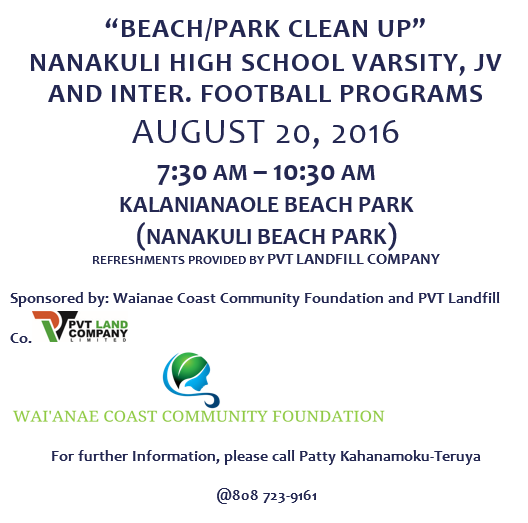 Kalanianaole beach clean up